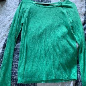 Green long sleeve thin sweater